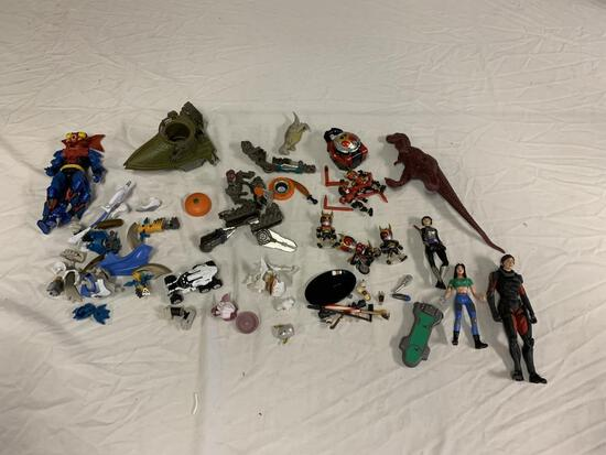 Lot of Action Figures Toys and More