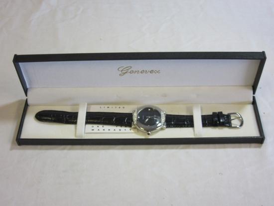 Genevex Quartz Japan Movt Black Watch