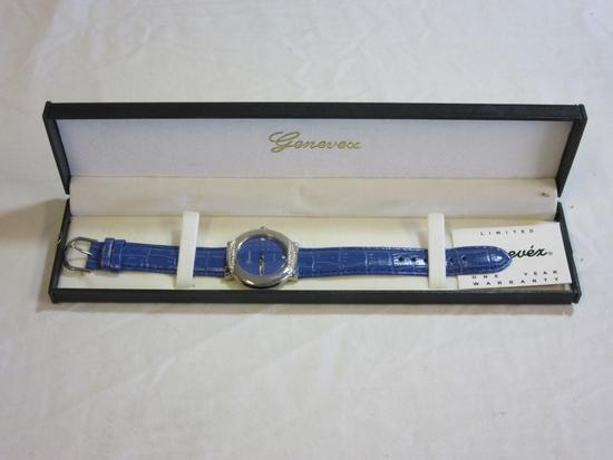 Genevex Quartz Japan Movt Blue Watch