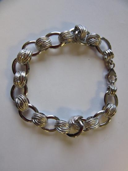 ".925 Silver 22.3g 7.5"" Silver Chain Bracelet"