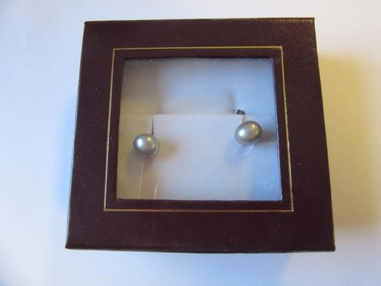 Pair of .925 Silver Earrings w/ Freshwater Pearls