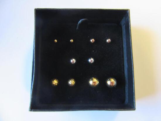 Lot of 5 Pairs of Stud Earrings of Various Colors