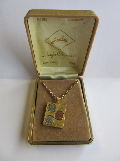 Jeweline Gold-Tone Coin Pendant Necklace