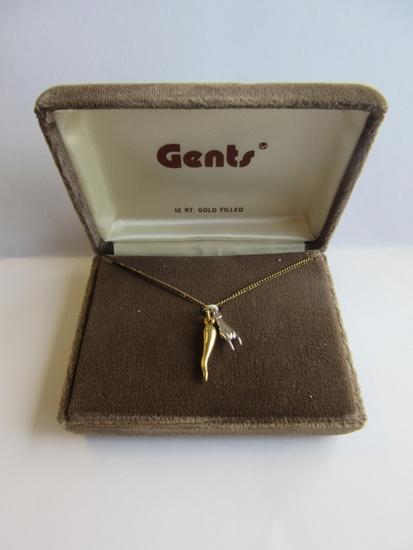 Gents 12K Gold Filled Pendant Necklace