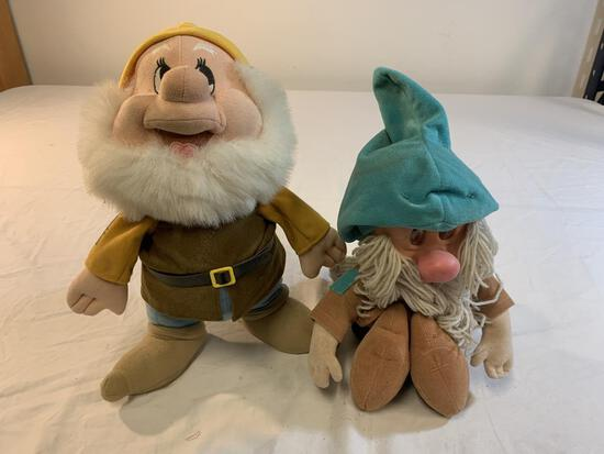 Vintage Disney Plush Dwarf SNEEZY & SLEEPY