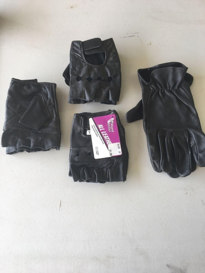 Lot of four for leather riding gloves XL