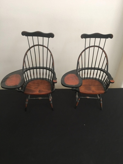 Set of miniature doll chairs