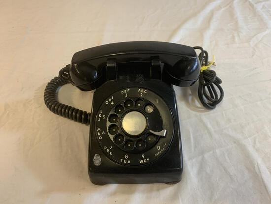 Vintage Bell System Black Rotary Dial Desk Phone