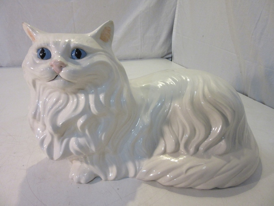Life-Size Ceramic Cat