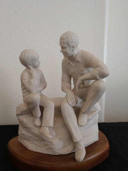 1985 Hansen sculpture father and son
