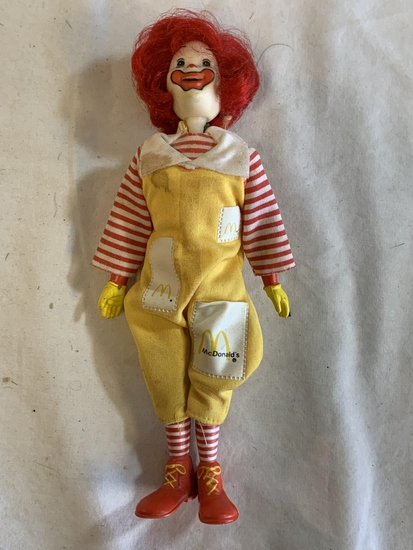 "Vintage 1976 Remco Ronald McDonald 8"" Doll"