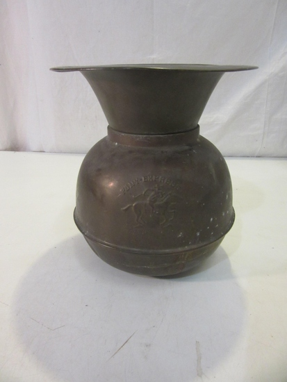 """Pony Express Chewing Tobacco Spitoon 10"""" Tall"""
