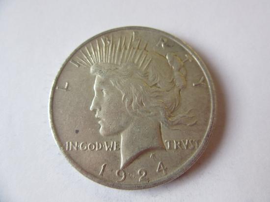 1924 .90 Silver Peace Dollar