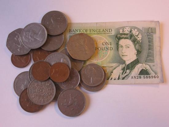 British 1 Pound Sir Isaac Newton Note w/ 20 Coins