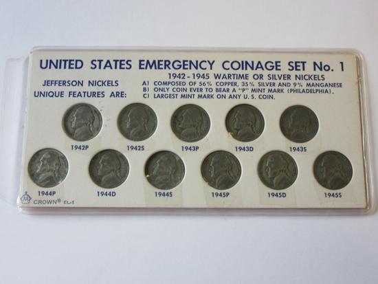 United States Emergency Coinage Set No. 1