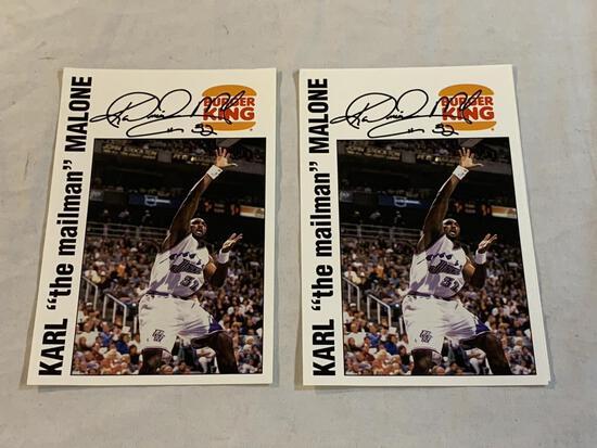 KARL MALONE Utah Jazz AUTOGRAPH Burger King Cards