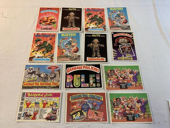 1986 Lot of 14 GARBAGE PAIL KIDS  4X6 Stickers