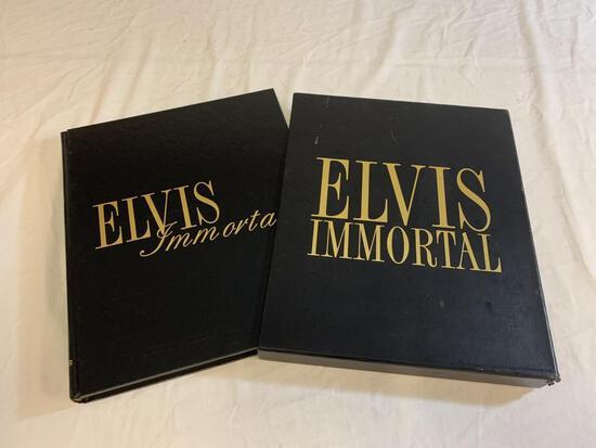 ELVIS PRESLEY IMMORTAL HC Photo History Book & CD