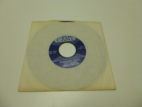 JOEY POWERS Midnight Mary 45 RPM Record 1963