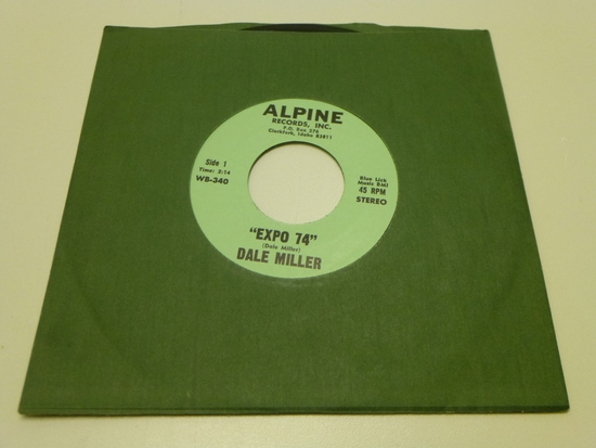 "DALE MILLER ""Expo 74"" 45 RPM Record 1974"