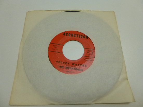 THE MEGATRONS Velvet Waters 45 RPM Record 1959