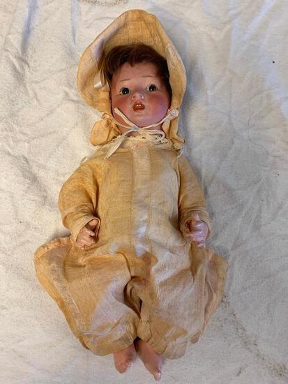 "Antique German Revalo Bisque 11"" Doll"