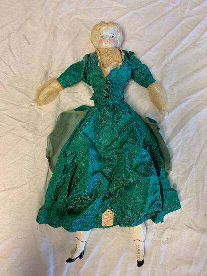 """Antique 1905 China Head 24"""" Doll with Stuff Body"""