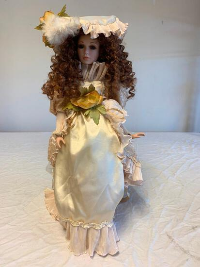 """Broadway Collection 24"""" Porcelain Girl Doll with Stand. Numbered 153 out of 2400"""