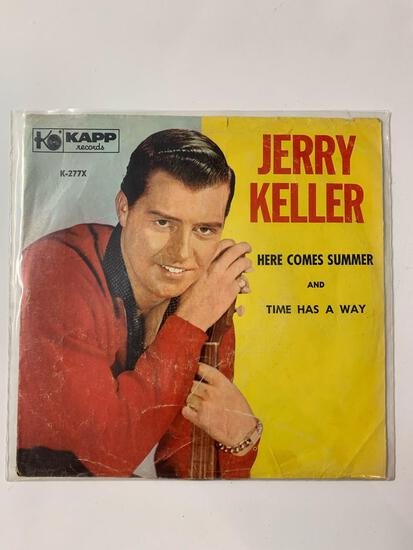 Jerry Keller ?? Here Comes Summer 45 RPM 1959 Record