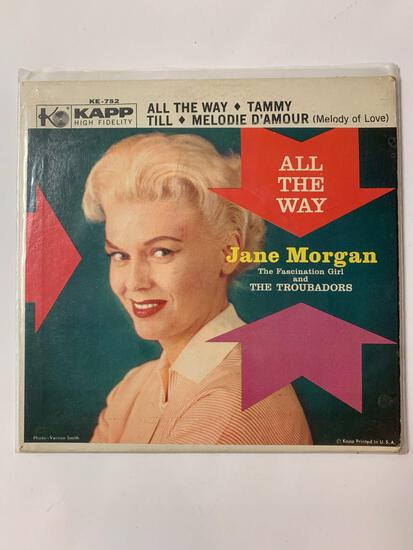 Jane Morgan With The Troubadors ?? All The Way 45 RPM 1962 Record