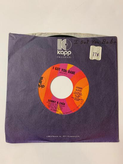 Sonny & Cher ? All I Ever Need Is You / I Got You Babe 45 RPM 1971 Record