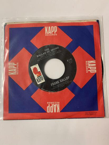 Frank Gallop / Phil Leeds ?? The Ballad Of Irving / Would You Believe It? 45 RPM 1966 Record