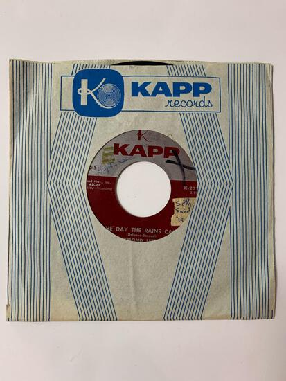 Raymond Lefevre And His Orchestra ?? The Day The Rains Came / Butter Fingers 45 RPM 1958 Record