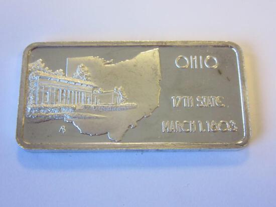 .999 Silver 1oz Ohio 17th State Bullion