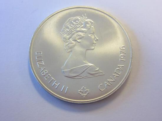 1976 .925 Silver Montreal 1976 Olympiad XX1 5 Dollar Coin