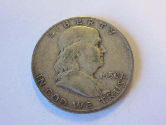 1950-D .90 Silver Franklin Half Dollar