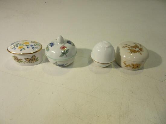 "Lot of 4 2"" Fine China Pots incl Brands: Okura, Heinrich, Gorham, Caverswall"