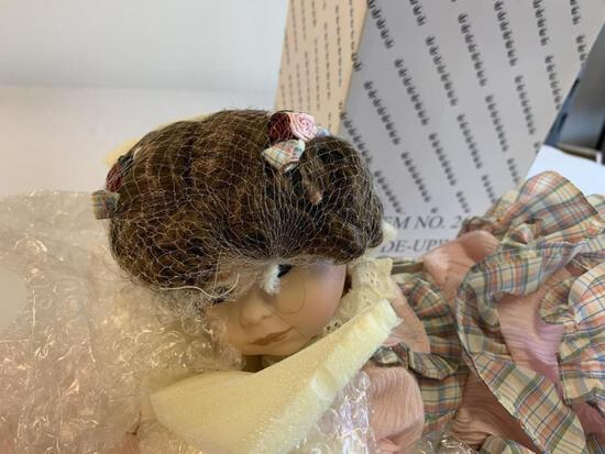 My Baby Bright Eyes Porcelain Doll 14? New In Box