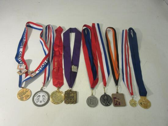 Lot of 9 Medals for Various Events incl: '02 UT Olympics, PineView Wrestling, UT Summer Games