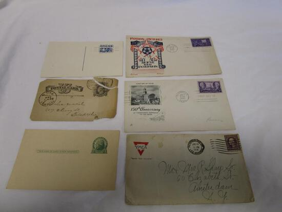 Lot of 6 vintage and antique envelopes and post cards