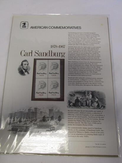 USPS American Commemoratives Carl Sandburg. No. 90, January 6, 1978.