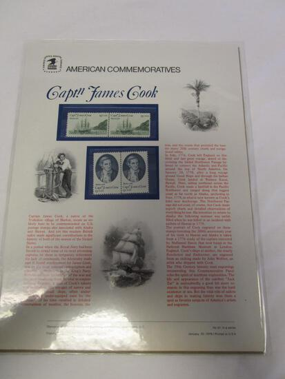 USPS American Commemoratives Capt.n James Cook. No. 91, January 20, 1978
