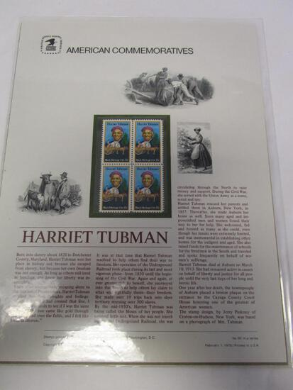 USPS American Commemoratives Harriet Tubman. No. 92, February 1, 1978