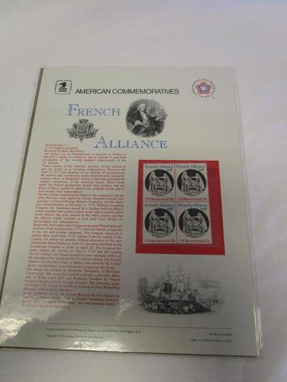 USPS American Commemoratives French Alliance. No. 95, May 4, 1978