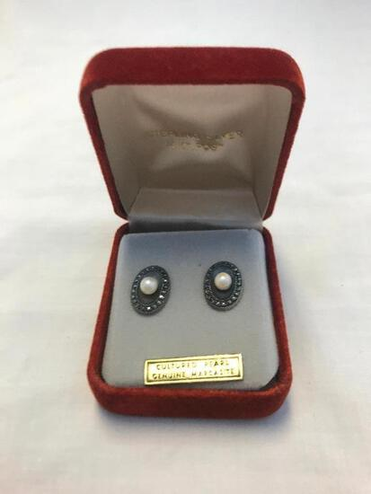 Sterling Silver Cultured Pearl Earrings