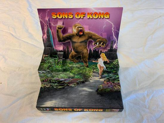 """Sons Of Kong """"10 Full-Length Movies"""" (DVD) 3-D Pop-Up Cover NEW"""