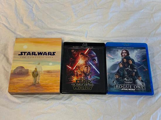 STAR WARS The Complete Saga Blu-ray Disc 9-Disc Set Movies 1-6 Plus The Force Awakes and Rogue One