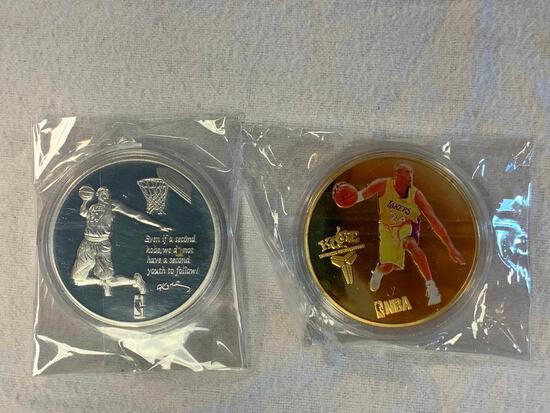 Lot of 2 KOBE BRYANT Lakers Coin Tokens