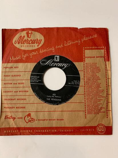 The Penguins ?? Earth Angel / Ice 45 RPM 1956 Record