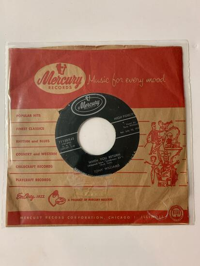 Tony Williams (2) ?? When You Return / Let's Start All Over Again 45 RPM 1957 Record